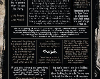 Steve Jobs Quote Collection Poster