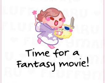 Fantasy Movie Reminder Sampler    Planner Stickers, Cute Stickers for Erin Condren (ECLP), Filofax, Kikki K, Etc.    SS31