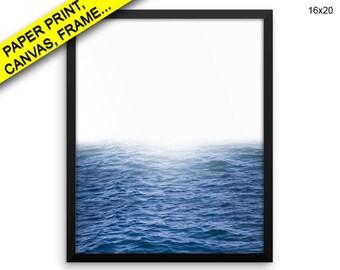 Waves Prints Ocean Canvas Wall Art Waves Framed Print Ocean Wall Art Canvas Waves Photography Art Ocean Photography Print Waves Blue Waves