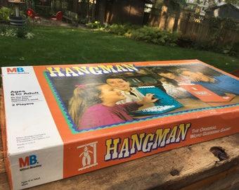Hangman Vintage Milton Bradley Game Family Game Night Retro Board Game 1988 Hang Man