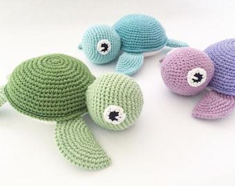 Turtle crochet blanket