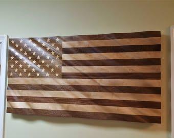 "American Hardwood Flag 24"" x 45"""