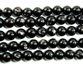 Hypersthene, Round  8 mm beads, 15.5 Inch, Full strand, Approx 48 beads, Hole 1 mm, AA quality (276054002)