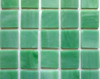 "20mm (3/4"") Pistachio Mint Green TIFFANY STAINED GLASS Mosaic Tiles//Machine Cut Tiles//Mosaic Pieces//Mosaic Supplies"