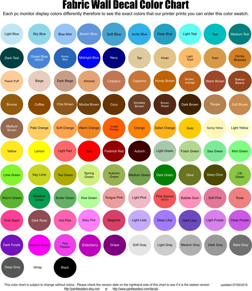 Color swatch for our fabric wall decals zoom nvjuhfo Gallery