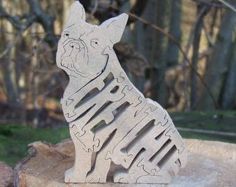 French Bulldog jigsaw,French Bulldog puzzle, French Bulldog ornament, French Bulldog gift, Frenchie memorial,  Frenchie gift
