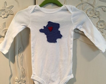 France Onesie, Paris, love, baby, gift