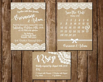 Burlap & Lace Digital Wedding Package