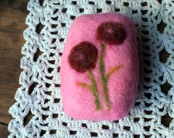Felted soap, Pink felted soap