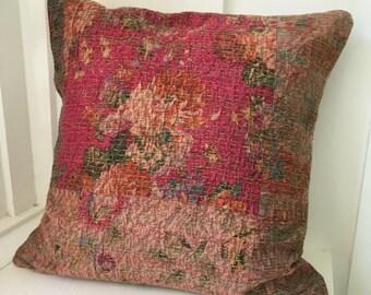 Vintage Kantha Boho Cottage Pillow Cover 10