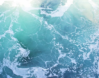 Ocean print, ocean canvas, water photo, water print, water canvas, oversized art, oversized print, blue and green, Puget Sound, water photo