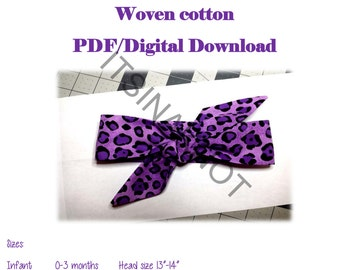Headwrap Pdf sewing pattern,Knotted headband pdf pattern,woven headwrap Pattern,baby Headband Pattern,Bandana Pattern,DIY headwrap
