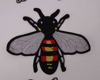 Bee Patch - HUGE gucci style Sew on patch with Iron On Lettering!