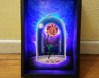 Beauty and the beast shadow box