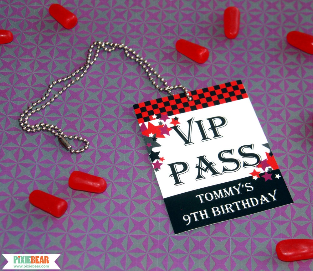Rock star birthday vip passes rockstar party vip pass rock zoom stopboris Images