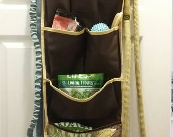 Hanging Organizer for Dog Supplies:  Fits over any door (Includes all hardware)