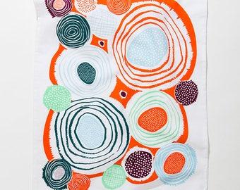 Whirlygig Mid Mod Tea Towel • Summer Brights Series