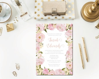 Blush Baby Shower Invitation