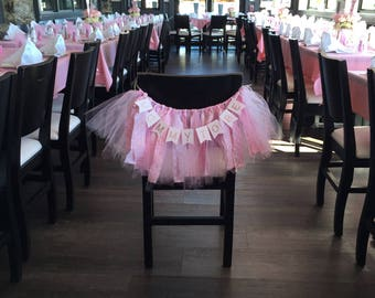 Mommy To Be Chair Banner, Mommy to Be Chair Sign, Mommy To Be Chair Tutu, Baby Shower Chair Sign