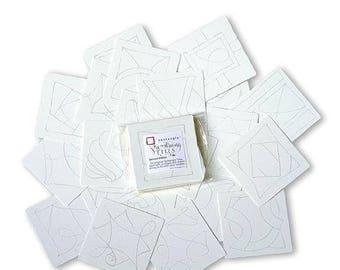 Prestrung Original Zentangle® Tiles - 24 Pack