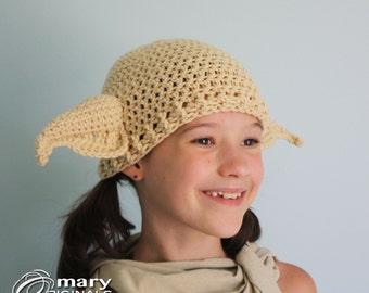 Elf Hat, Crochet Beanie, Geekery, Halloween Costume, Wizards Costume, Troll Hat, House Elf Hat, Goblin Hat, Orc Hat, Accessories, Clothing,