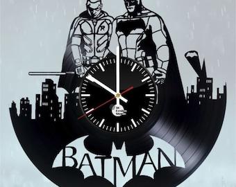 Red Robin Batman DC Comics superheroes vinyl clock handmade bedroom living kids room nursery wall decor gifts idea for birthday men women