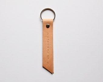 angled simple keychain