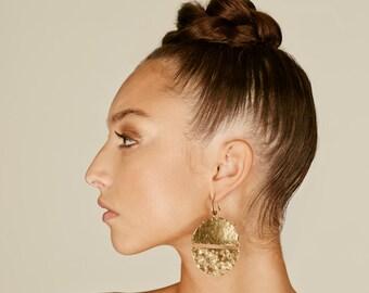 Disc earrings, African earrings, African jewelry, Ethnic earrings, Tribal earrings, big earrings, boho earrings