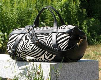 Duffel Bag - Safari Bag - Carryon Bag - Overnight Bag - Zebra Kit Bag