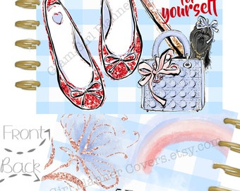Happy Planner Cover, Wizard Of Oz, Dorothy Shoes Glam Girl Covers, Stylish Girl Planner Covers, Use with Erin Condren Planner(TM), Glam Girl