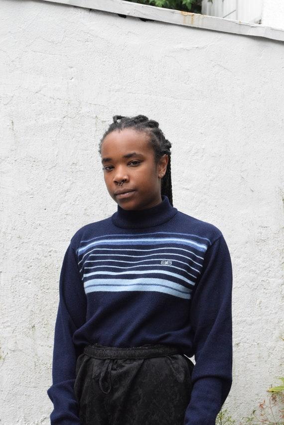 Balenciaga Striped Mock Neck Sweater