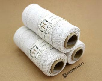 Hemp Twine, White - 1mm Hemp Craft Cord