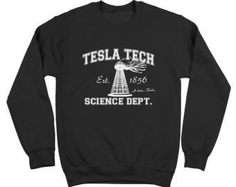 Tesla Tech Nikola Tesla Geek Science Retro Auto Crewneck Sweatshirt DT0125