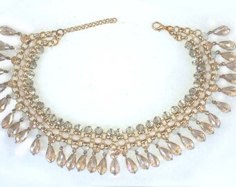 Vintage Crystal Statement Necklace GORGEOUS!