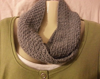 ON SALE!!!  Handmade crochet infinity scarf, crochet cowl, handmade scarf, neckwarmer, circle scarf, crochet scarf