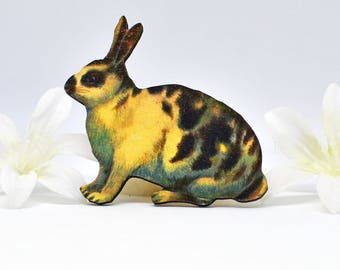 Bunny Rabbit Brooch Coco- Rabbit Jewelry- Bunny Pin- Bunny Brooch- Animal Brooch-  Rabbit Pin- Bunny Jewelry- Woodland Animal- Nature Lover