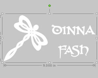 Custom Dinna Fash Dragonfly decal