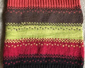 Acrylic Fair Isle Wool Cowl