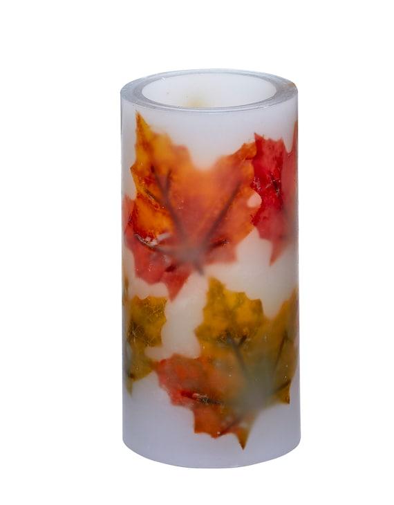 LED Pillar Candle - Autumn Leaves