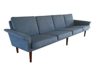 Vintage Danish Mid Century Modern Sofa