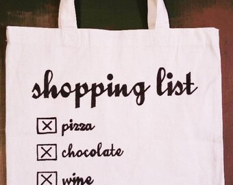 Shopping List Tote