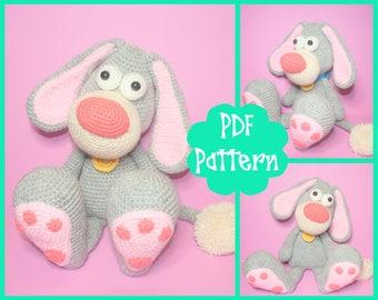 Dog Crochet Pattern, Dog Amigurumi, Amigurumi Pattern, Dog Plush, Dog Plushie, Dog Toy, Crochet Toy, Cute Dog, Big Dog, Crochet Dog, PDF,