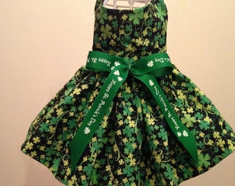 Clover All Over St. Patrick's Day Dog Dress