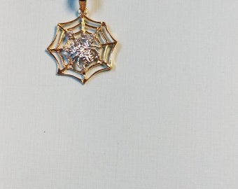 Spider Pendant 14 k and 14k chain