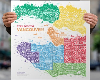 Stay Positive Vancouver Print