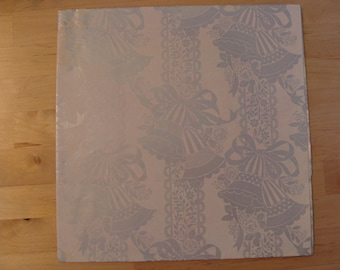 Vintage Wedding Gift Wrap 60's Bridal Wrapping Paper Wedding Bells Fabulous Shiny Silver Retro Kitsch Fabulous 1960's