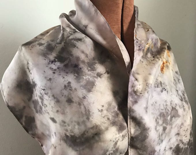 Rust and lac - naturally dyed silk scarf 14