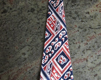 Ultra Wide Beautiful 1930s Bold Silk Tie (Deadstock Unworn)