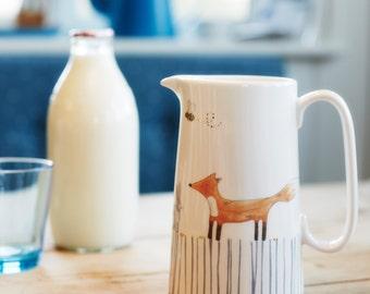 Woodland Animals Pint Jug - made from fine dishwasher safe fine bone china