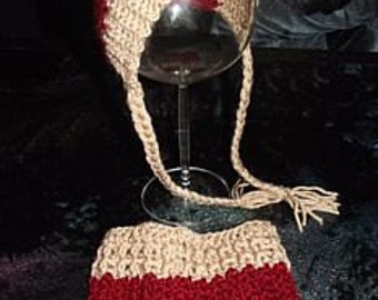 "Babyset-""Bonnet & Rock"" crocheted, newborn, reborn-photoshoot-50/56-0-3 months"